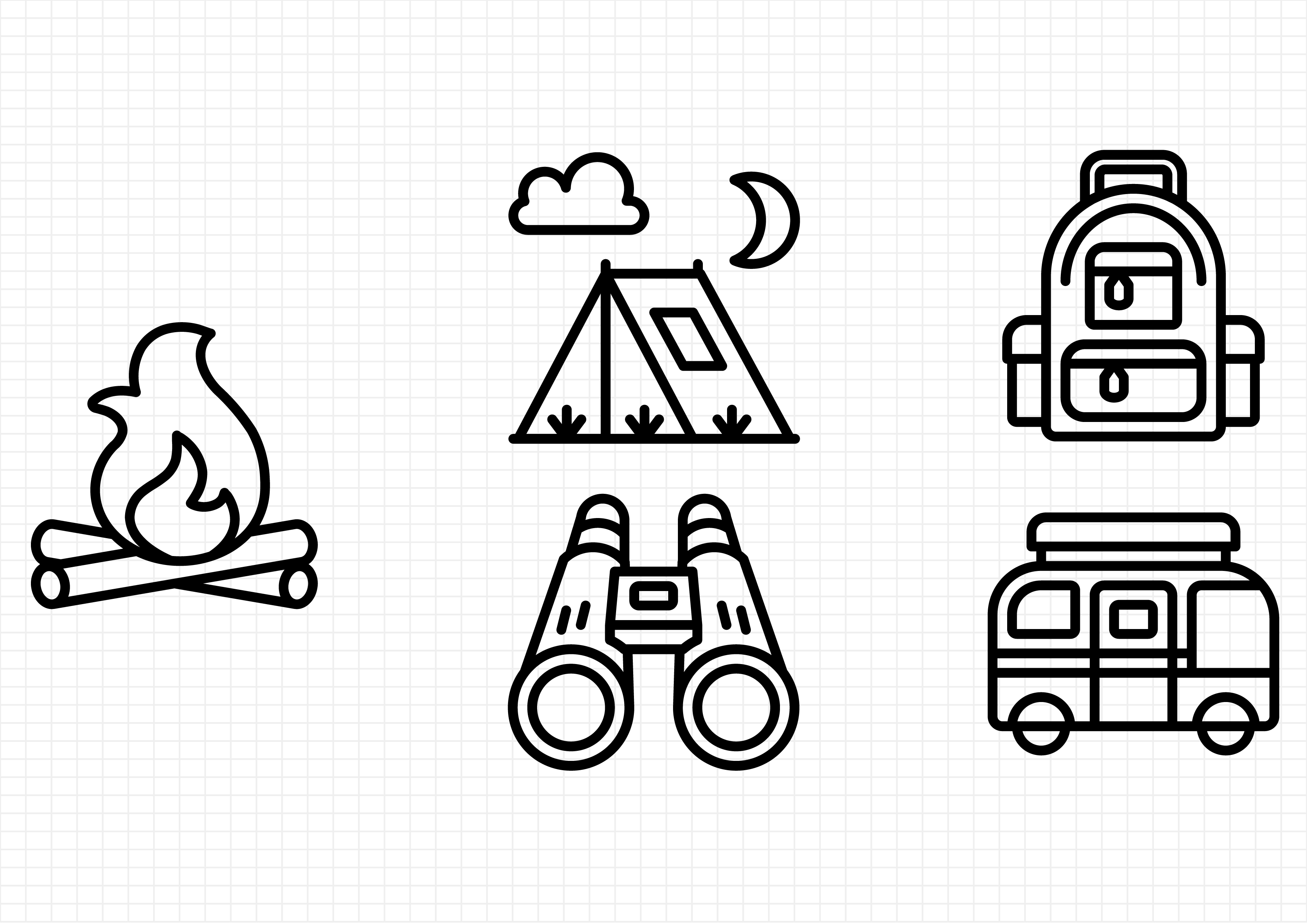 Download Free Camping Graphic By Beryladamayu Creative Fabrica for Cricut Explore, Silhouette and other cutting machines.