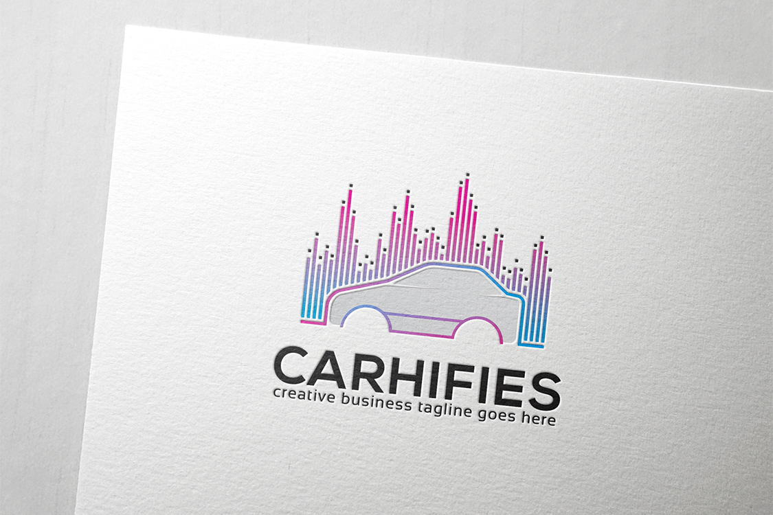 Download Free Car Hi Fi Logo Graphic By Slim Studio Creative Fabrica for Cricut Explore, Silhouette and other cutting machines.