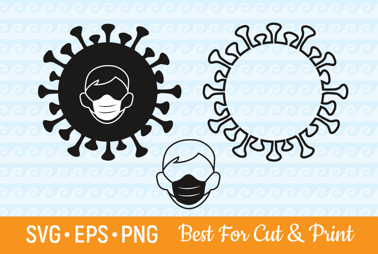 Download Free Corona Virus Medical Face Mask Graphic By Olimpdesign Creative for Cricut Explore, Silhouette and other cutting machines.