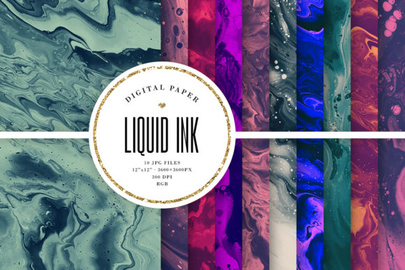 Print on Demand: Dark Backgrounds - Abstract Painting Graphic Backgrounds By Sabina Leja