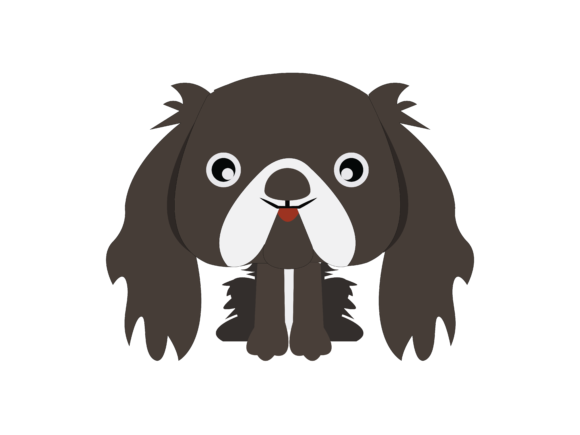 Download Free Dog Flat Design Vector Icon Graphic By 1riaspengantin Creative for Cricut Explore, Silhouette and other cutting machines.
