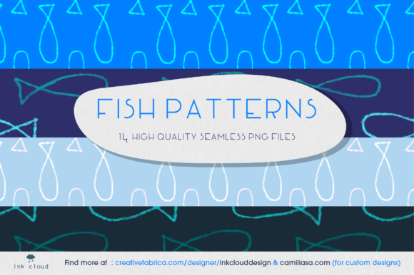 Download Free Fish Pattern Seamless Illustration Sea Graphic By for Cricut Explore, Silhouette and other cutting machines.