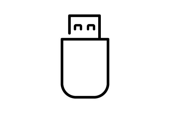 Download Free Flash Drive Icon In Modern Design Graphic By Deniprianggono78 for Cricut Explore, Silhouette and other cutting machines.