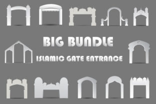 Download Free Gate Entrance Exhibition Booth Islamic Graphic By Iop Micro Creative Fabrica for Cricut Explore, Silhouette and other cutting machines.