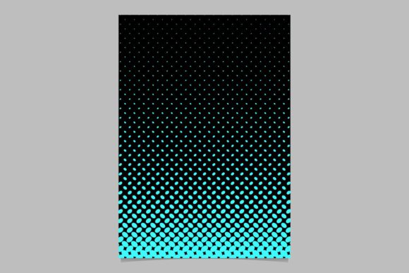 Halftone Pattern Brochure Background Graphic By Davidzydd