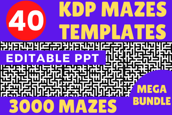 Print on Demand: KDP Bundle 40 Mazes Templates 3000 Mazes Graphic KDP Interiors By Mastery Templates