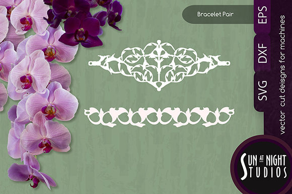 Download Free Leafy Bracelet Vector Cut Graphic By Sun At Night Studios for Cricut Explore, Silhouette and other cutting machines.