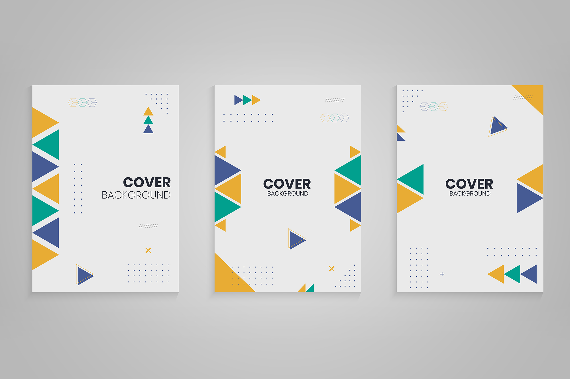 Download Free Memphis Cover Design Collection Graphic By Medelwardi Creative for Cricut Explore, Silhouette and other cutting machines.
