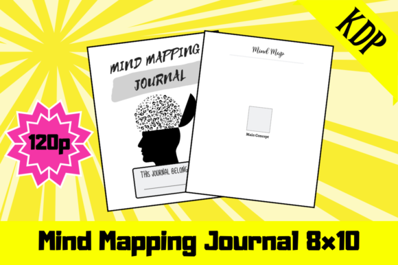 Print on Demand: Mind Mapping Journal | KDP Interior Graphic KDP Interiors By Hungry Puppy Studio