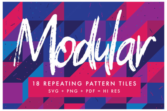Download Free Modular Pattern Tiles Graphic By Huebert World Creative Fabrica for Cricut Explore, Silhouette and other cutting machines.