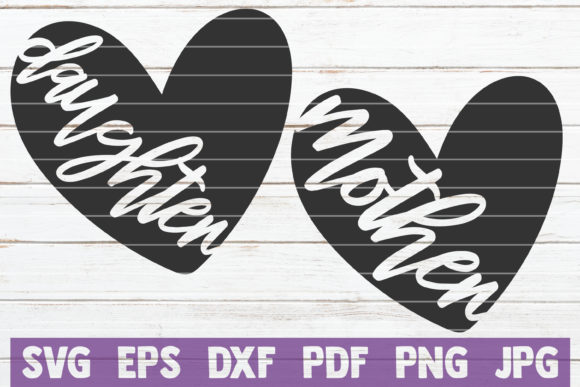 Download Mother / Daughter Matching Heart