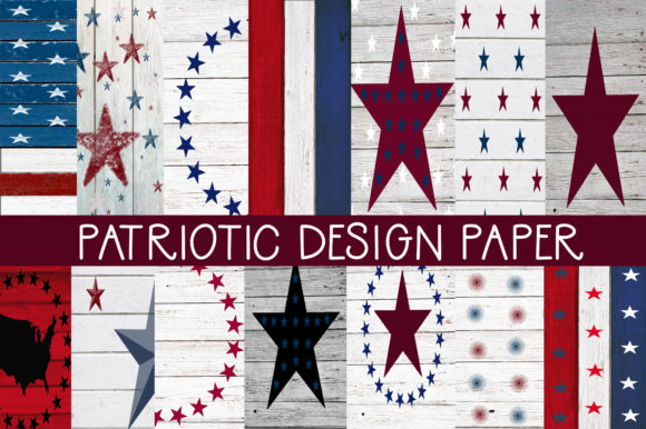 Print on Demand: Patriotic Design Papers Graphic Patterns By CapeAirForce