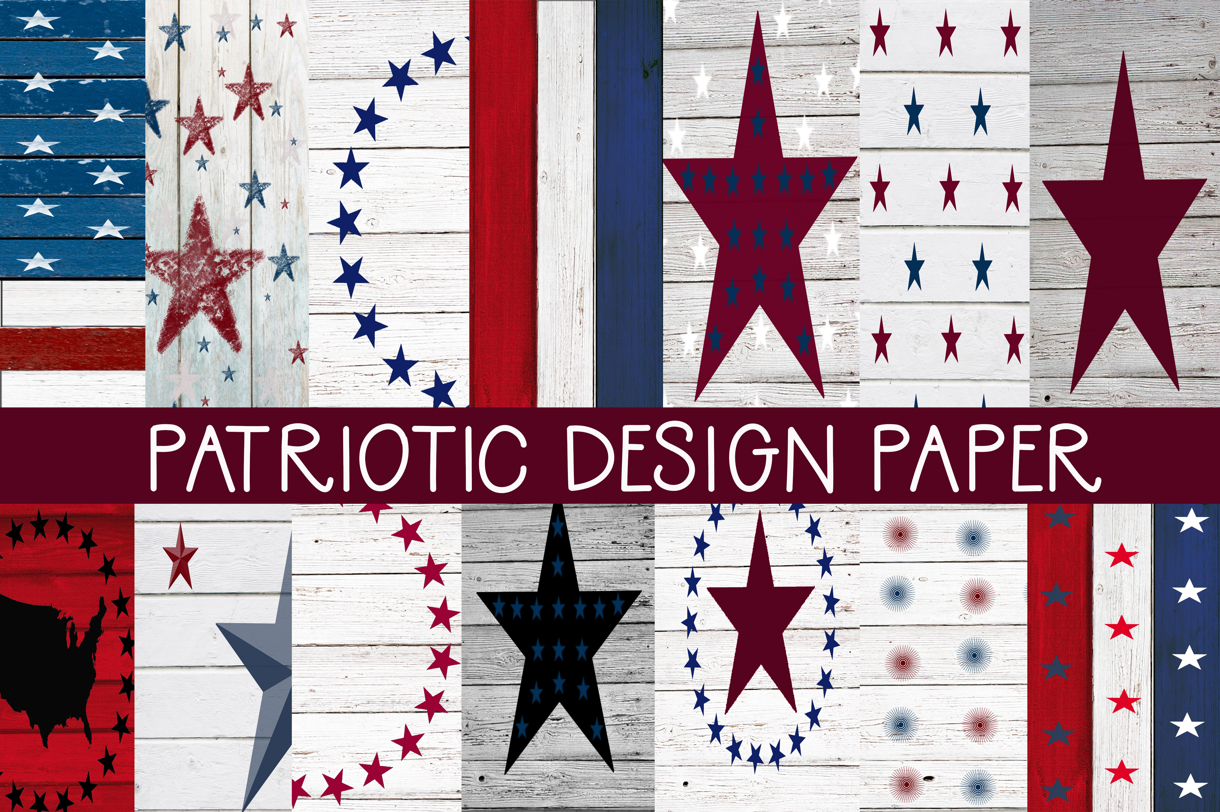 Download Free Patriotic Design Papers Graphic By Capeairforce Creative Fabrica for Cricut Explore, Silhouette and other cutting machines.