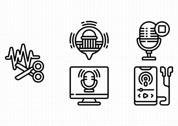 Download Free 13 Podcasting Designs Graphics for Cricut Explore, Silhouette and other cutting machines.
