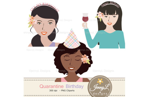 Download Free Quarantine Birthday Digital Papers Grafico Por Jennyl Designs for Cricut Explore, Silhouette and other cutting machines.