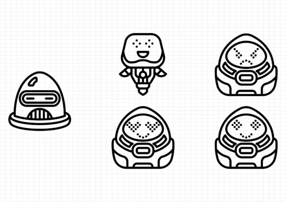 Download Free Robot Avatars Graphic By Beryladamayu Creative Fabrica SVG Cut Files
