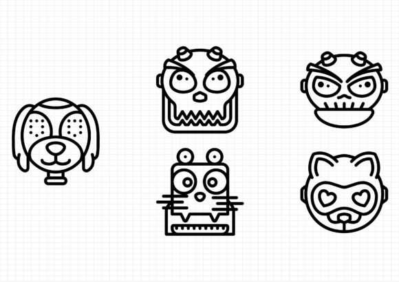 Download Free Robot Avatars Graphic By Beryladamayu Creative Fabrica for Cricut Explore, Silhouette and other cutting machines.
