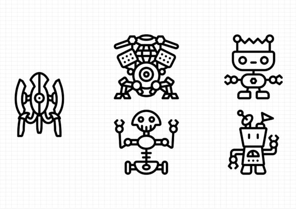 Download Free Robotics Graphic By Beryladamayu Creative Fabrica for Cricut Explore, Silhouette and other cutting machines.
