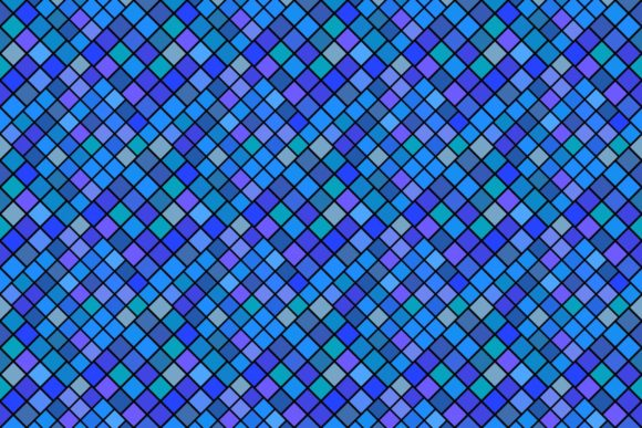 Download Free Seamless Blue Square Pattern Graphic By Davidzydd Creative Fabrica for Cricut Explore, Silhouette and other cutting machines.