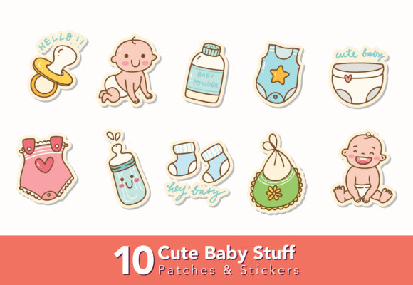 Download Free Set Of Cute Baby Stuff Doodle Graphic By Big Barn Doodles Creative Fabrica SVG Cut Files