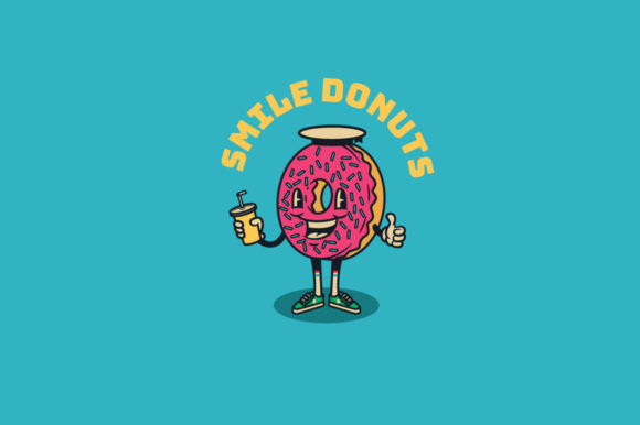 Download Free Smile Donuts Logo Template Graphic By Kreasimalam Creative Fabrica for Cricut Explore, Silhouette and other cutting machines.