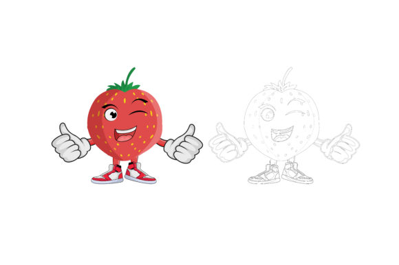 Download Free Strawberry Fruit Cartoon Character Graphic By Printablesplazza Creative Fabrica for Cricut Explore, Silhouette and other cutting machines.