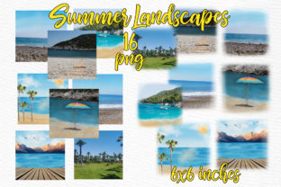 Print on Demand: Summer and Beach Landscape Graphic Illustrations By LeCoqDesign