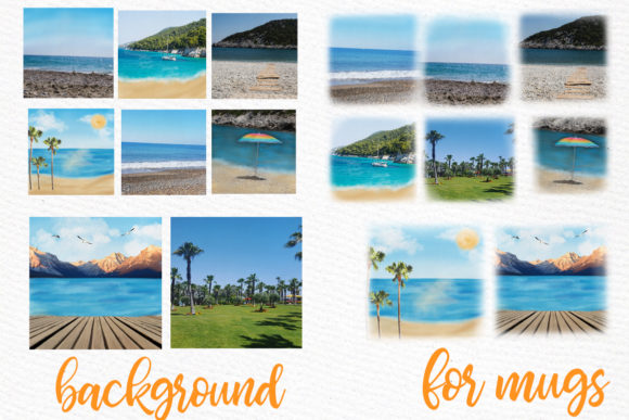 Summer and Beach Landscape Graphic Illustrations By LeCoqDesign - Image 2