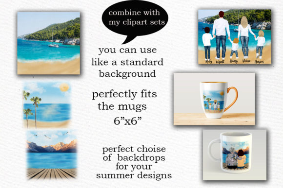 Summer and Beach Landscape Graphic Illustrations By LeCoqDesign - Image 3