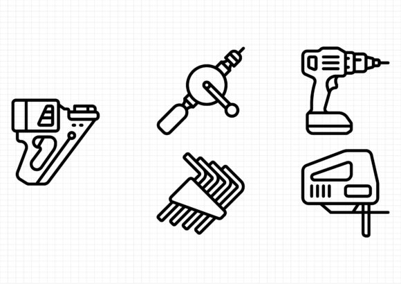 Download Free Tools Graphic By Beryladamayu Creative Fabrica for Cricut Explore, Silhouette and other cutting machines.