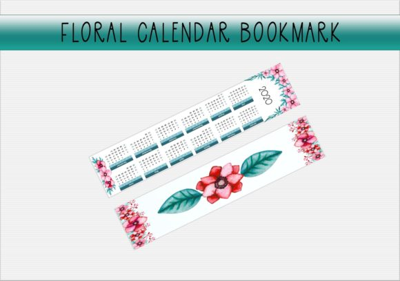 Download Free Wc Floral Calendar Bookmark Graphic By Capeairforce Creative for Cricut Explore, Silhouette and other cutting machines.