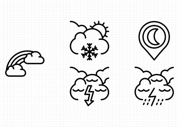 Weather Graphic Icons By beryladamayu
