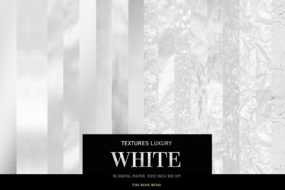 Print on Demand: White Luxury Digital Papers Graphic Textures By TheRoseMind