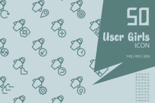 User Girls Set Icon Graphic Icons By astuti.julia93@gmail.com