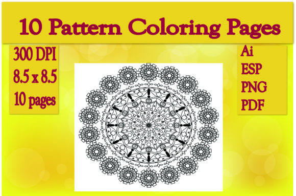 Print on Demand: 10 Pattern Coloring Pages Graphic KDP Interiors By Ivana Prue