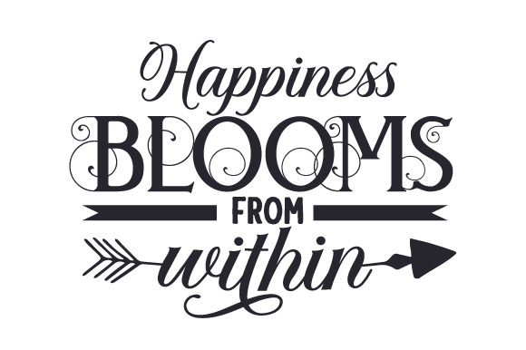 Happiness Blooms from Within Spring Craft Cut File By Creative Fabrica Crafts - Image 2