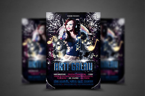 Anti Galau Flyer Template Graphic Print Templates By Ciusan