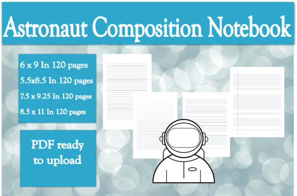 Download Free Astronaut Composition Notebook Interior Graphic By Ivana Prue for Cricut Explore, Silhouette and other cutting machines.