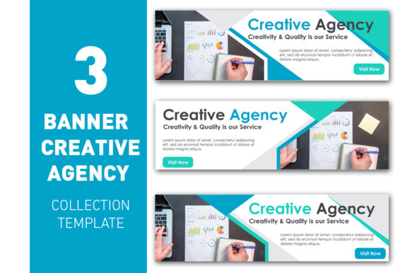 Banner Creative Agency Collection  Graphic Web Templates By ant project template