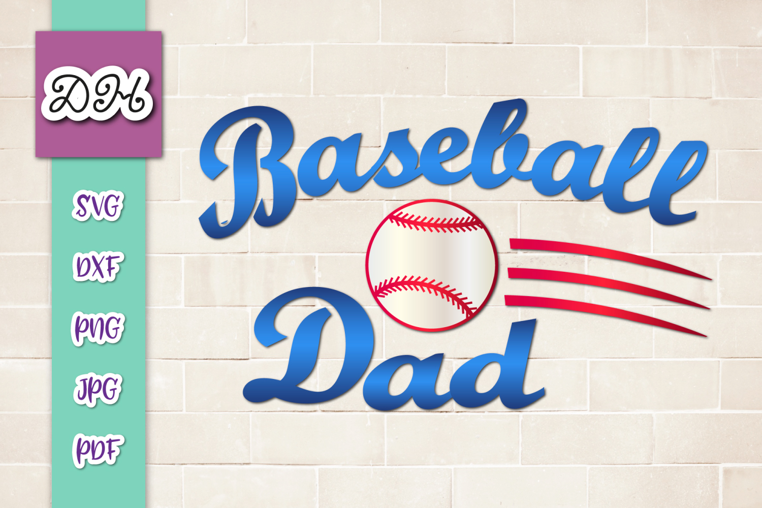 Download Free Baseball Dad Player Father Print Cut Graphic By Digitals By for Cricut Explore, Silhouette and other cutting machines.