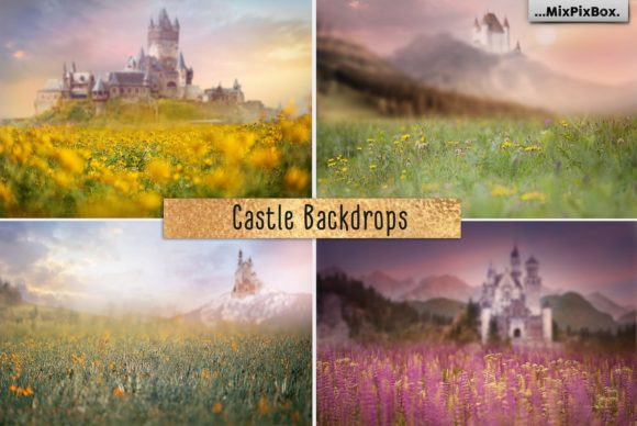 Print on Demand: Castle Backdrops Graphic Layer Styles By MixPixBox