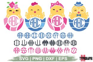 Print on Demand: Chick in Eggshell Monogram   Letters Graphic Crafts By Typography Morozyuk
