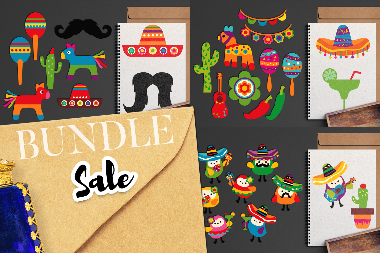 Download Free Cinco De Mayo Fiesta Bundle Graphic By Revidevi Creative Fabrica for Cricut Explore, Silhouette and other cutting machines.