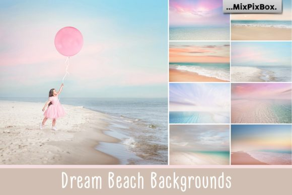 Print on Demand: Dream Beach Backgrounds Graphic Backgrounds By MixPixBox