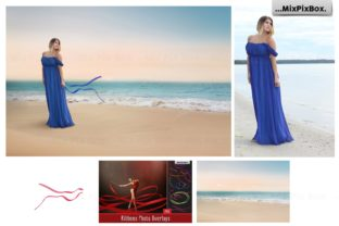 Print on Demand: Dream Beach Backgrounds Graphic Backgrounds By MixPixBox 2
