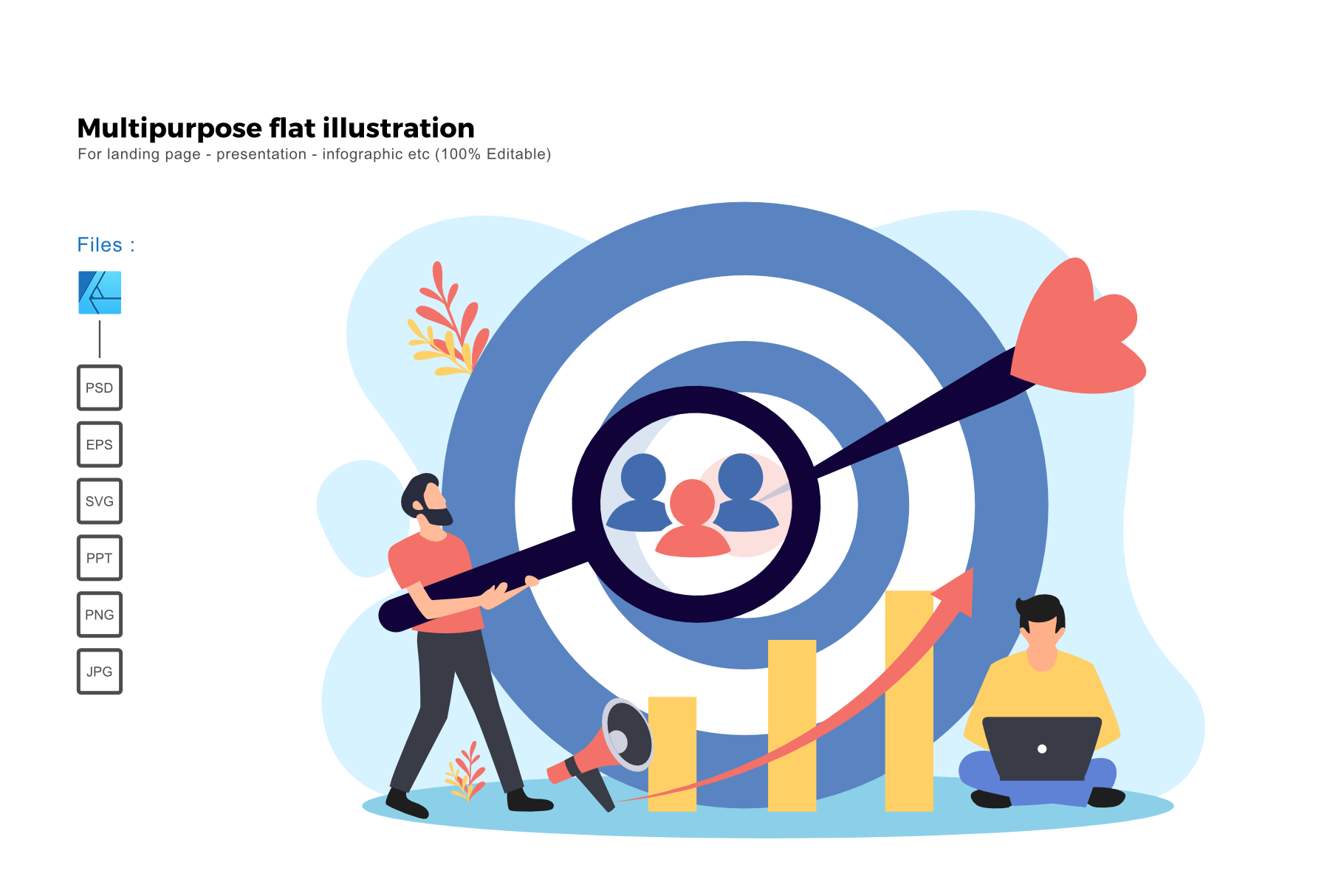 Flat Illustration Target Audience Graphic By Rivatxfz Creative