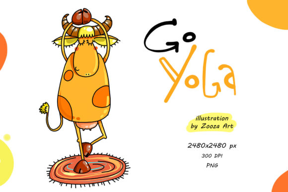 Print on Demand: Go Yoga - Illustration  Graphic Illustrations By Zooza Art