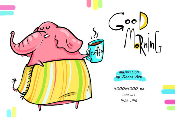 Print on Demand: Good Morning - Illustration Graphic Illustrations By Zooza Art