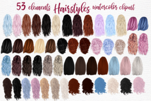 Print on Demand: Hairstyle Clipart Fashion Hairstyles Graphic Illustrations By LeCoqDesign