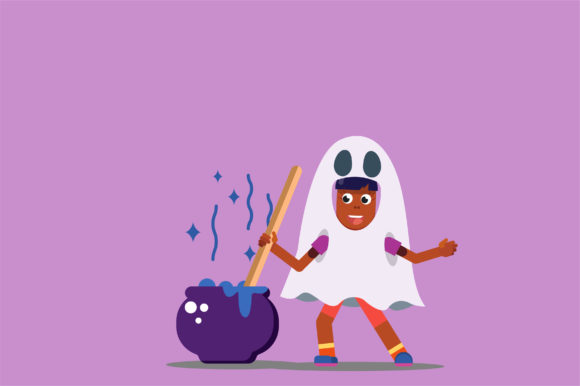 Download Free Halloween Characters Vector Illustration Graphic By Altumfatih SVG Cut Files